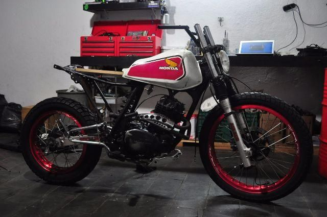 Honda XL 250 scrambler in progress