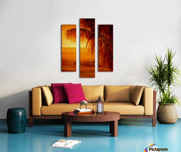 Autumn, colors, scene, seascape, fine art, oil painting, decor items, triptych, 3 split, stretched, canvas, multi panel, prints, for sale