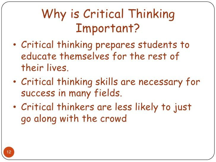 Critical thinking is important college application essays mistakes