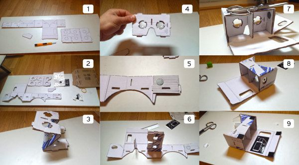 Oculus Rift cardboard alternative construction