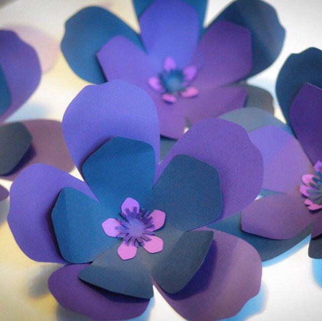 Shop the trendiest colour of 2018, #Ultraviolet & decorate your home & events with these gorgeous #paperflowers @KomalWorks.etsy.com. We ship worldwide. #purpleflowers #homedecor #weddingdecor # #babynursery #etsy #komalworks