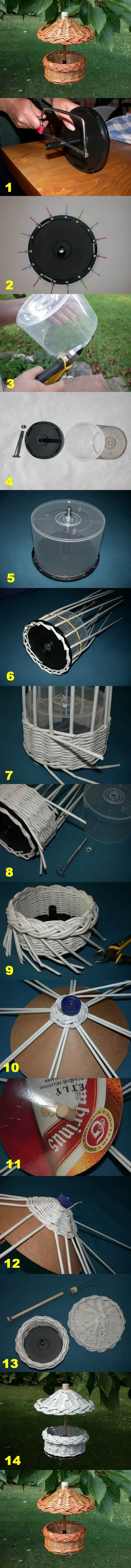 DIY Woven Paper Bird Feeder | iCreativeIdeas.com Follow Us on Facebook --> https://www.facebook.com/icreativeideas