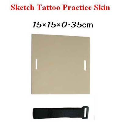 Sketch Double sided Tattoo Practice Skin 15×15×0.35cm With Velcro Strap STPS-S [STPS-S] - $2.33 : Tattoo Supplies and Equipment from Bodyart-Mart