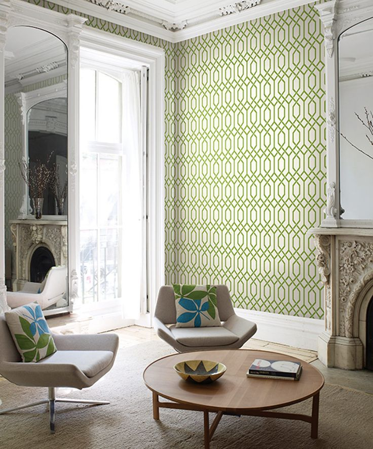 Madison Geometrics - Today Interiors wallpaper Green