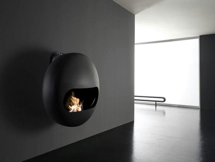 Bioethanol carbon steel fireplace BUBBLE - ANTRAX IT