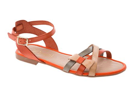 Tosoni at #Spitz - Tricolour Stripey Flat with Bow - Women's Shoes #SS14