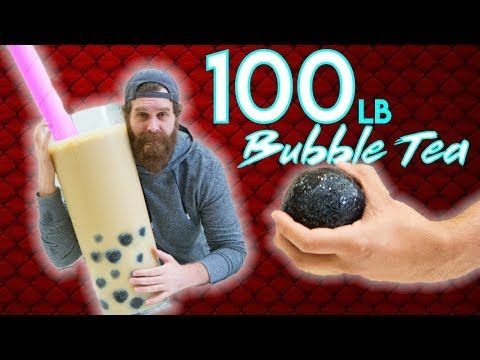 Giant Bubble Tea - Epic Meal Time - YouTube