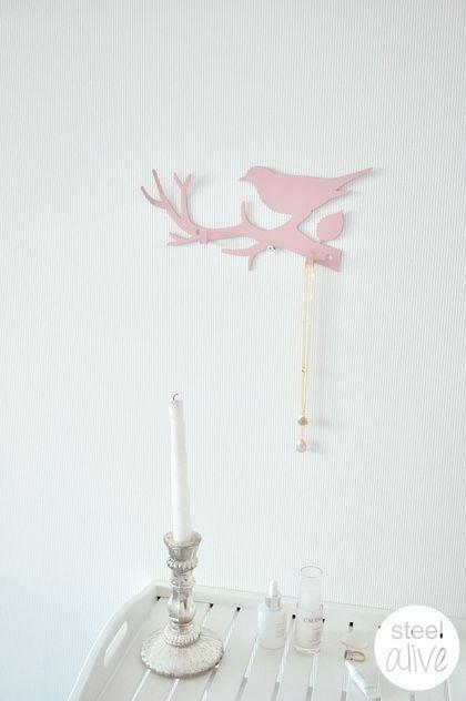 """Детская ручной работы. Ярмарка Мастеров - ручная работа Вешалка """"Розовая птица"""". Handmade."""