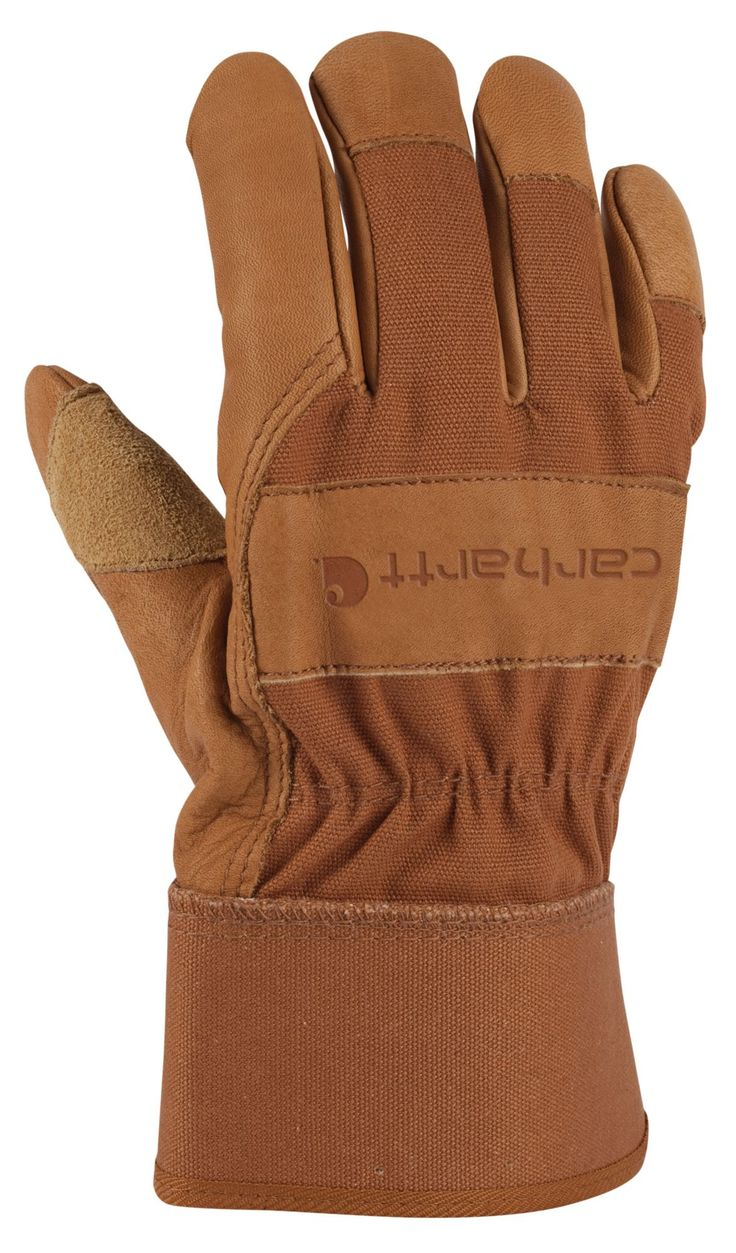 Leather work gloves ebay - Carhartt Men S Grain Leather Work Gloves Field Stream