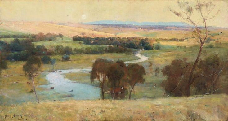 'Still glides the stream, and shall for ever glide' by Arthur Streeton, 1890