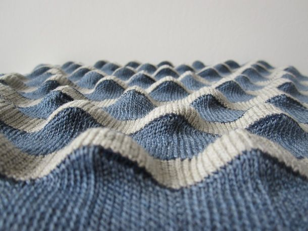 Knitting inspiration form Olive Pearson. Short rows create the ripple