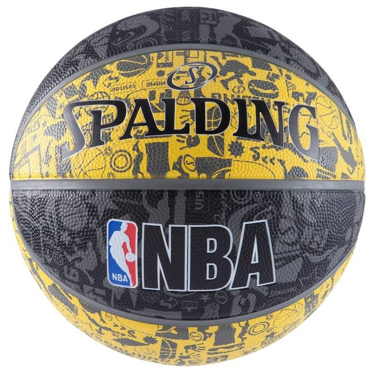 BALÓN BALONCESTO NBA GRAFFITI AMARILLO SPALDING - Deportes Colectivos Baloncesto...