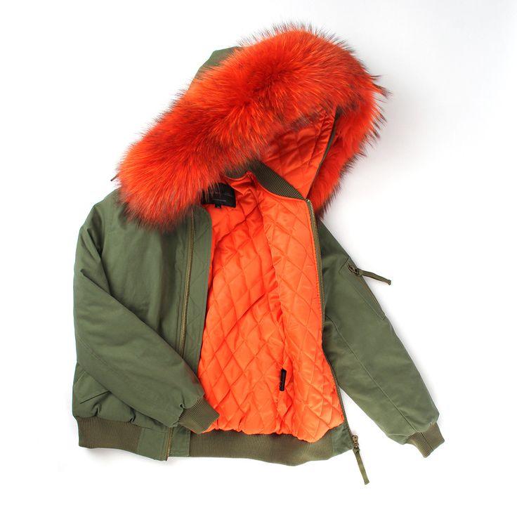 JAZZEVAR high fashion street women's army green winter jacket female warm bomber coat hooded large raccoon fur outerwear