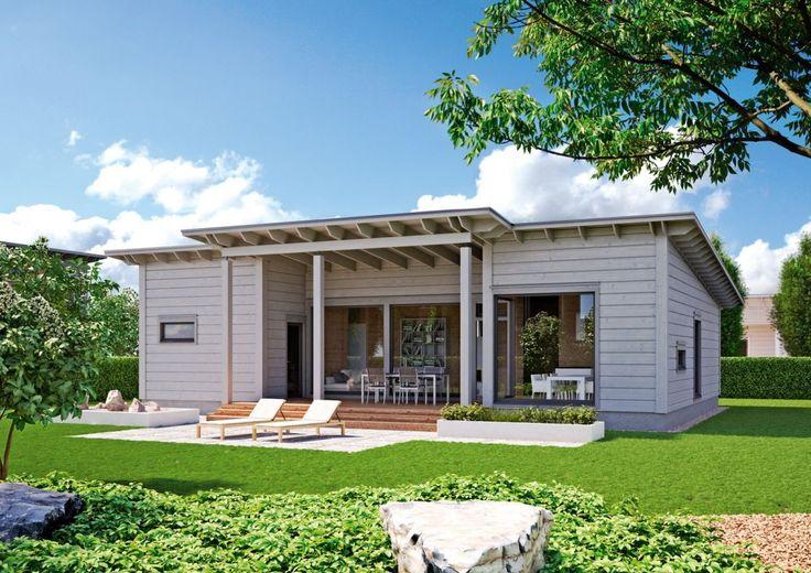 Yksikerroksinen Kontio Aurinkolahti on käytännöllisen toimiva, mutta myös ylellisen hienostunut pulpettikattoinen koti koko perheelle.