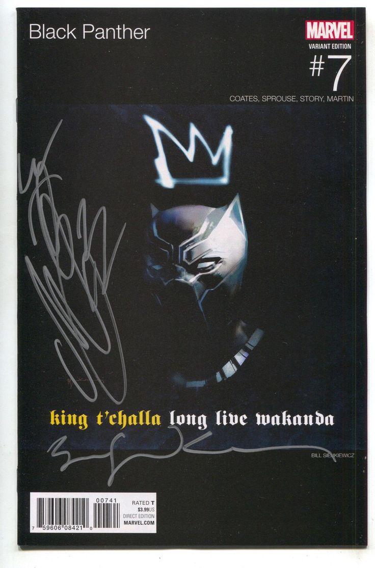 Black Panther 7 Marvel Signed 2x Bill Sienkiewicz King Mez Hip Hop Variant