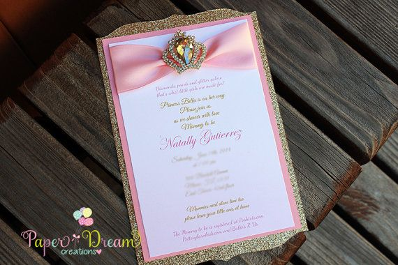 Princess invitation Sweet 16 invitation by PaperDreamCre on Etsy