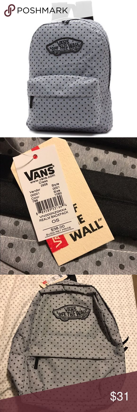 Vans Grey with dots backpack New with tags retails for $38 on the Vans website Vans Bags Backpacks