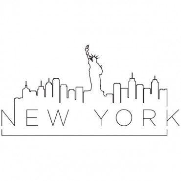 Sticker New York sur un fil