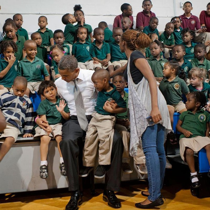 How cute is this pic posted by the White House. Check out the two in the back row. I guess the love in the room was too overwhelming! LOL! -Debra