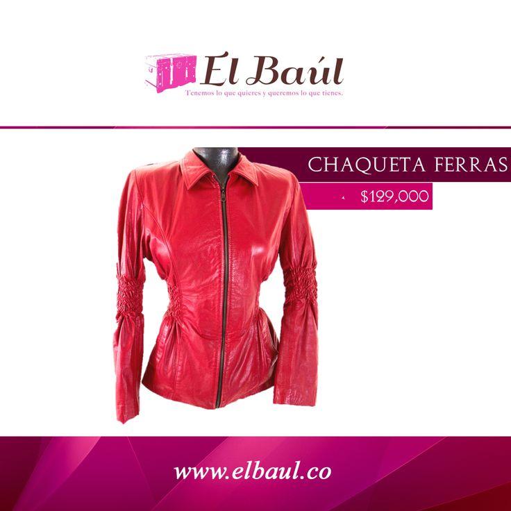 Chaqueta FERRAS cuero roja  $129,000 http://elbaul.co/Productos/82/Chaqueta-Ferras-cuero-roja-