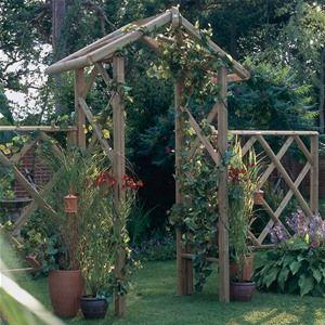 Forest Garden Wooden Forest Rose Arch