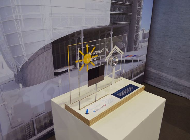 A model to show how solar panels work for Low Carbon and Ben Ainslie Racing
