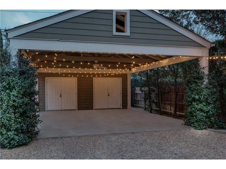 Carport with storage home pinterest garage haus for Geschlossener carport