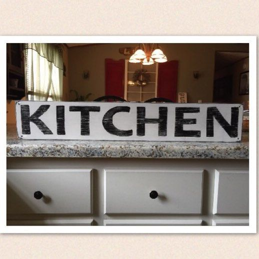 Kitchen sign, hand painted wood sign