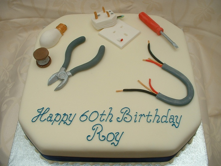 Electrician cake idea
