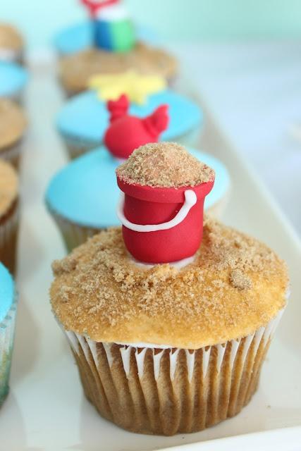 Cubo de arena Playa Cupcakes