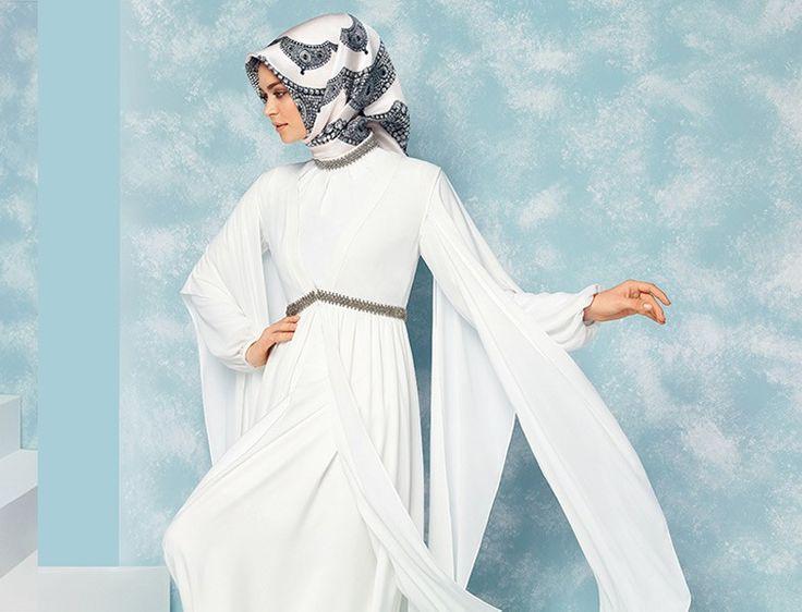 Boutique Armine - Beyaz Tesettür Abiye Elbise Modeli 2015 http://www.yesiltopuklar.com/yeni-nesil-ihtisam.html