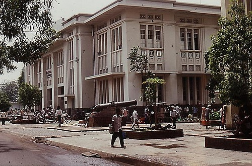 Indonesia, Batavia (Jakarta).1977: a Dutch colonial style building  a color slide by Antoni P. Uni