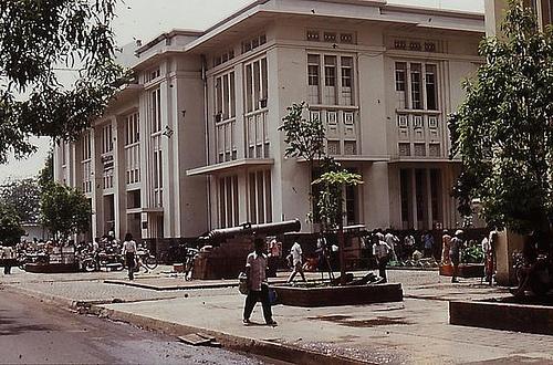 Indonesia, Batavia (Jakarta).1977: a Dutch colonial style building  a color slide by Antoni P. Uni