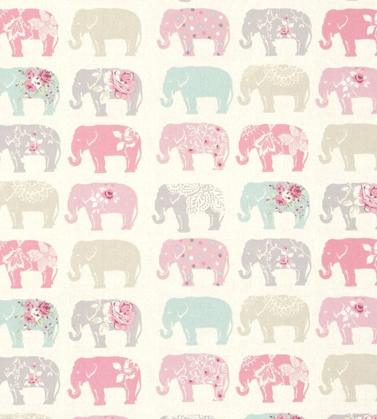 How to Style | Girls Rooms | Elephants Fabric by Clarke & Clarke | Jane Clayton