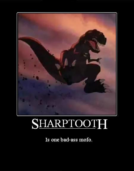 Sharptooth from The Land Before Time (1988) | The Land Before Time