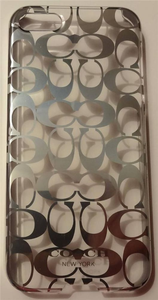 COACH Metallic Silver Signature C iPhone 5 Cell Phone Hard Case.  Dress up your iPhone 5 with this unique case.  Please visit BeachBonBoutique on eBay.