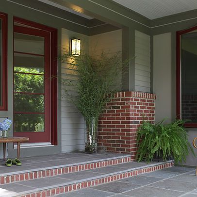 17 best ideas about red brick houses on pinterest red brick exteriors navy front doors and - Best green exterior paint colors design ...