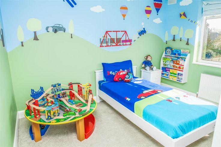 Boys bedroom park, balloons and sky