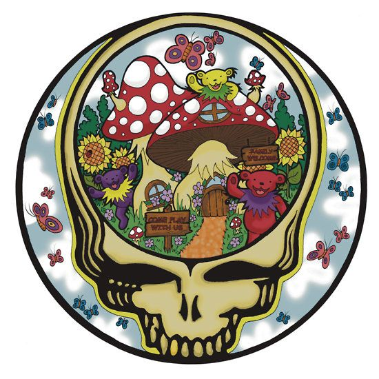 Grateful Dead - Steal Your Face, Dancing Bears and Mushrooms