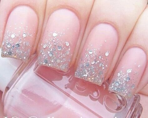 Sparkly Pink Manicure