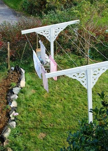 Laundry line...I have wanted one for years. This one is so pretty and functional. I think it's perfect for my back yard!