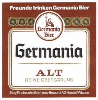 Germania Alt - ein Bier, dessen Farbe und Geschmack auf ein spezielles Röstverfahren von Darr-Malzen basiert - ein obergäriges Bier.