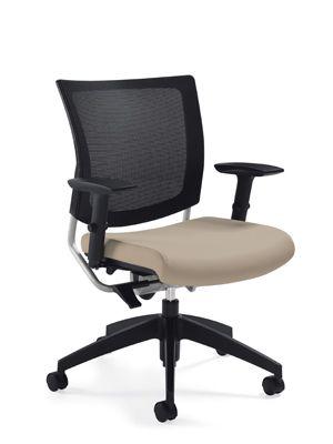 Global, Graphic Chair, Black, 2738MB Mesh Medium Posture Back