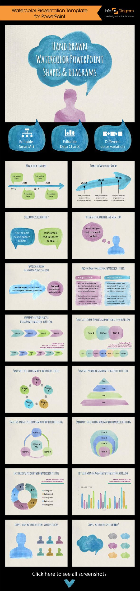 Watercolor PowerPoint Presentation for Business