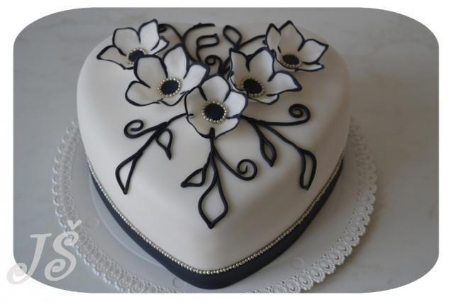 Černobílá romance | dorty od mámy
