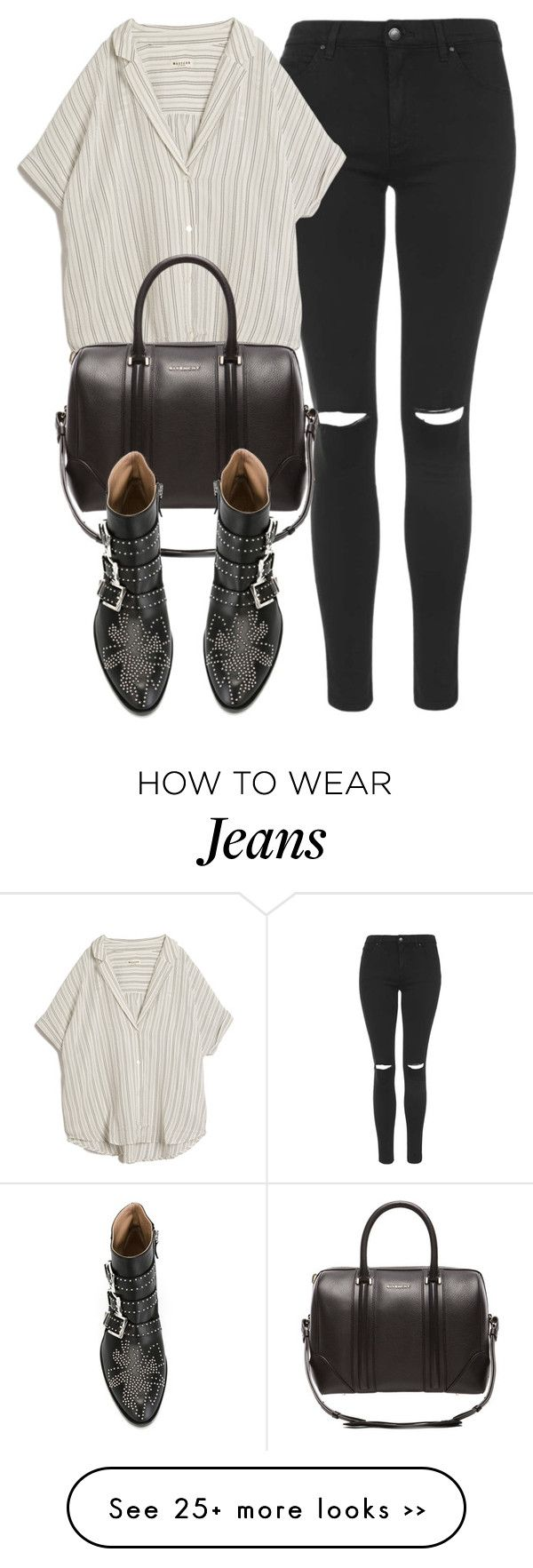 """""""Untitled #4424"""" by laurenmboot on Polyvore featuring Topshop, MASSCOB, Givenchy and Chloé"""
