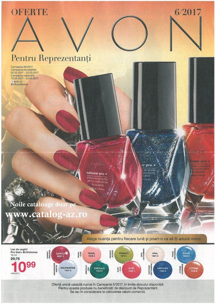 Catalog Avon Oferte pentru Reprezentanti C6 2017! Oferte si recomandari: lac de unghii Pro Nail+ Birthstones 10,99 lei; creion contur pentru ochi 10,99 lei