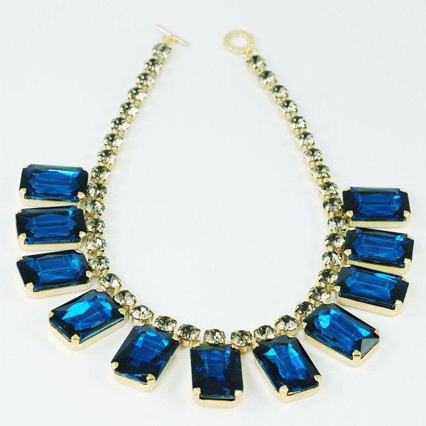 CATERINA MARIANI BIJOUX Swarovski Blue Necklace | La Luce http://shoplaluce.com/collections/caterina-mariani-bijoux/products/caterina-mariani-bijoux-swarovski-necklace-blue