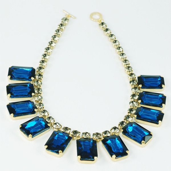 CATERINA MARIANI BIJOUX Swarovski Blue Necklace | La Luce http://shoplaluce.com/collections/caterina-mariani-bijoux/products/caterina-mariani-bijoux-swarovski-necklace-blue