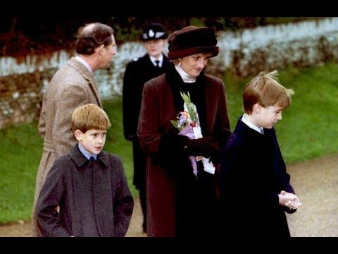 Princess Diana's last Christmas service with the Royal Family at Sandrin...